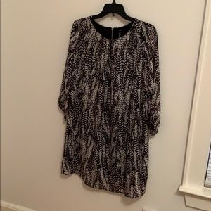 H&M long sleeve blouse dress size 10